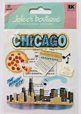 NIP CHICAGO THEMED JOLEE'S BOUTIQUE DIMENSIONAL STICKERS WINDY CITY PIZZA MUSIC