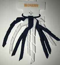 Gymboree Girls Curlie Hair Streamer Ponytail Holder Navy White