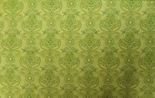 """New 100% Cotton, 45"""" Henry Glass, """"Piccadilly Lane"""" Green and Yellow Floral BTY"""