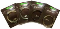 Korda Safe Zone Kamo Dark Matter 1m Leader Ring Swivel 30lb Test - All Colours