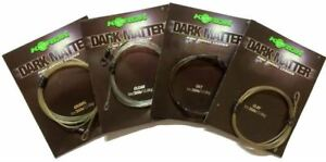 Korda Safe Zone Kamo Dark Matter 1m Leader Ring Swivel 30lb Test - All Colours