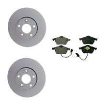 Set of 2 Meyle Brand Anti Corrision Front Rotors /& Aftermarket Pads A4 A6