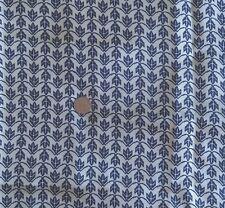 "Vintage 1960s Acetate Crepe Fabric Navy & Cream Chevron Lining 43""W x 4½ Yards"