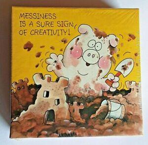 Springbok Vtg Mini Puzzle 1981 Sealed New Snortles Messy Pig 7 x 7 PZL7215 HTF