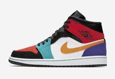 Nike Air Jordan Retro 1 Mid Multi Color 554724 125 554725 Bred Multicolor Size