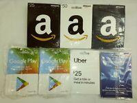70 Card Lot New Unused Zero Balance Gift Cards No Value Amazon Google Uber 8