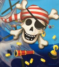 Pack of 8 Pirate Children's Party LOOT BAGS GIFT carry handle 99p skull treasure
