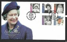 Gibraltar 2001 FDC QEII 75th Birthday fine used stamps