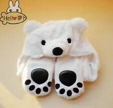 Cartoon Animal Polo Bear Plush Earmuff Scarf Gloves Hat Cap Beanie Anime Cosplay