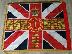The Royal Anglian Regiment 1st battalion Queens colours flag