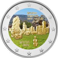 2 Euro Gedenkmünze Malta 2020 Ta Skorba coloriert / mit Farbe / Farbmünze