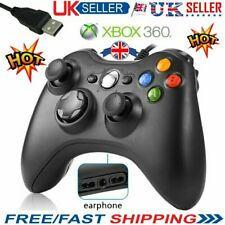 BLACK BRAND USB WIRED CONTROLLER FOR MICROSOFT XBOX 360 WII PS3 Slim PC Windows