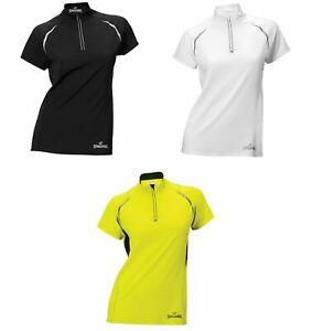 Ladies Spalding 1/4 Zip Endurance Short Sleeve Sport Womens Top