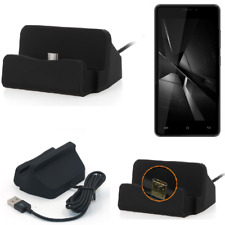 Docking Station for Cubot H3 (2018) black charger Micro USB Dock Cable