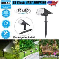 20 LED Solar Landscape Spot Light Outdoor Light Yard Garden Lamp Waterproof