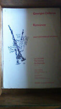 PARTITION - GEORGES DELERUE - ROMANCE - clarinette si b et piano