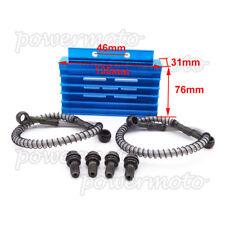 CNC de refroidissement Radiateur Refroidisseur d'huile Kit Bleu pour 125 140cc 150cc CRF50 Pit Dirt Bike