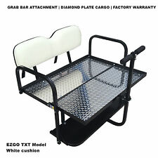 WHITE EZGO Rear Flip Seat for EZGO TXT Golf Cart 1994 to Current Year