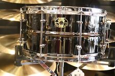 Ludwig 7X13 Black Magic Snare Drum w/ triple flanged hoops and chrome hardware