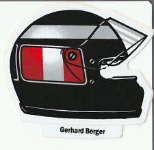 GERHARD BERGER HELMET 91 SEASON DECAL ORIGINAL PERIOD STICKER ADESIVO AUFKLEBER