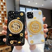 Dollar Money Glitter Gold Diamond Phone Case for iPhone 11/11 Pro MAX XR XS Max