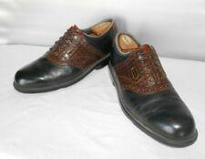 Men's Footjoy Dry-joys Black Leather Golf Shoes Size 10.5 D