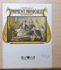 Moment Musicale - 1908 large sheet music - by Schubert, arr. by F. Burgmuller
