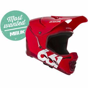 661 SIXSIXONE RESET MTB MOUNTAIN BIKE FULL FACE CYCLING HELMET CE - MATADOR RED