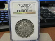 1976 US Bicentennial / Hartford CT Sterling Silver  NGC MS 69  #006 39mm SCD