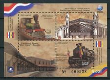 Ecuador 2018 MNH Trains Joint Issue JIS Paraguay 2v M/S Railways Rail Stamps