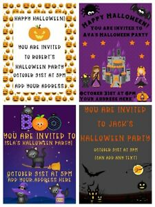 Personalised Halloween Invitations Children's Party Halloween Party Invites