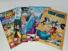 Disney Comic 4 Book Set Mickey Mouse Frozen Toy Story & Disney Princesses New