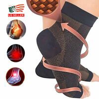 Foot Plantar Fasciitis Arch Support Compression Socks Ankle Heel Brace Copper