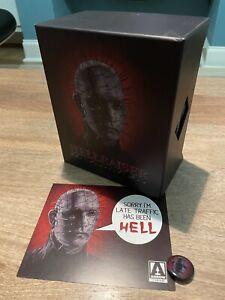 Hellraiser : The Scarlet Box - Arrow Ltd Ed Blu-ray Boxset OOP - Inc. Pin Badge
