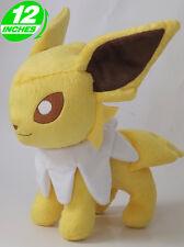 BIG 12'' 30CM Pokemon Eeveelutions Jolteon サンダース Plush Stuffed Doll PNPL7064