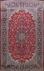 Vintage Traditional Red Floral Najafabad Area Rug Hand-Knotted Wool Carpet 10x14