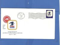 FIRST DAY ISSUE INAUGURATION PRESIDENT BILL CLINTON MI JULY 1971 FDC & STAMP
