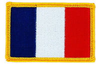 FLAG PATCH PATCHES FRANCE FRENCH  RON ON COUNTRY EMBROIDERED WORLD FLAG