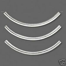 Tube Beads Silver Curved Spacer 38mm 1-1/2 inch Jewelry Finding Lot of 20