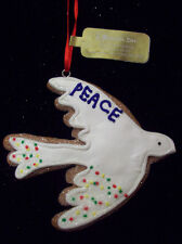 CHRISTMAS Gingerbread Cookie PEACE DOVE Ornament ROMAN White Bird Xmas Decor NEW