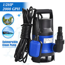 Swimming Pool Water Pump 1/2 Hp 2100Gph Submersible for Dirty Flood Clean Pond