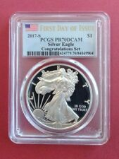 2017-S Silver Eagle PR70 DCAM Congratulations Set First Day of Issue