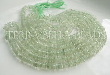 "8"" GREEN AMETHYST gem stone smooth round heishi rondelle beads 5.5mm"