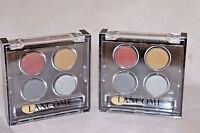 2x Lancome colour focus Eyecolour quad Color Palette - 4Radiance