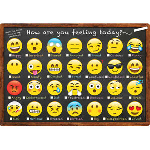 ASHLEY PRODUCTIONS SMART EMOJI HOW YOU FEELING CHART 91032