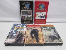 5 VHS Marty Stouffer's Wild America Black Bears Dangerous Encounters Wildlife