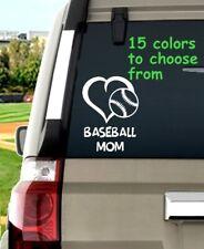 8 Sizes Baseball Mom Heart Car Window Decal Sticker Macbook Laptop Tablet iPad
