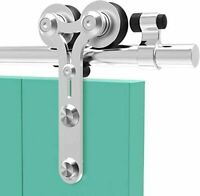 4-16FT Sliding Barn Door Hardware Kit Stainless Steel Track for Wood Door Y