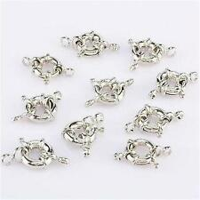 13MM Silver Plated wheel Circle Clasp Finding Necklace 10PCS ##AY069