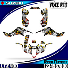suzuki ltz 400 kawasaki kfx 400 decals graphics stickers Complete version 03-08